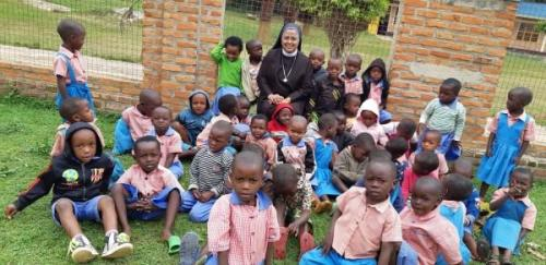 Superior General with African students