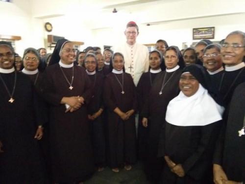 Cardinal Ryner Maria Woelki in CTC generalate