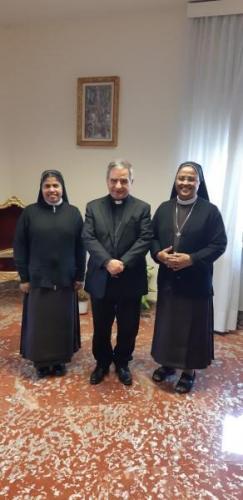 with Cardinal Giovanni Angelo Becciu