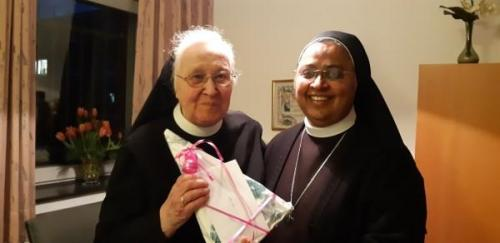 with Mother  Julita, Germany